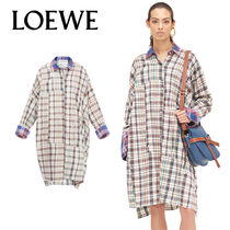 追跡ありで安心☆LOEWE Ov Check Shirtdress Multicolor