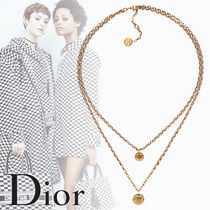 【Dior】AMULETTES D'AMOUR エイジドゴールドトーンネックレス