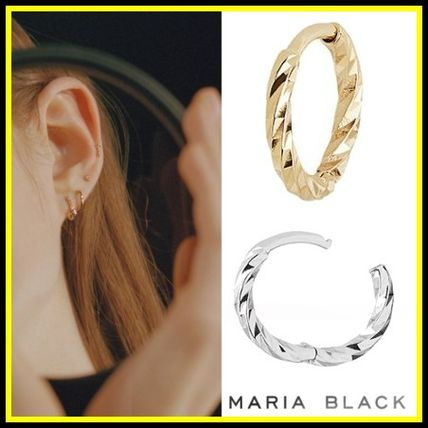 Maria Black ピアス 送料関税込☆Maria Black☆DIAMOND CUT HUGGIE - 9MM 2種