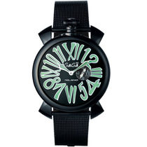 GAGA MILANO ガガミラノ MANUALE SLIM 46MM  BLACK PVD 5082.2