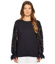 See by Chloe Sweatshirt with Lace Sleeves トップス セール