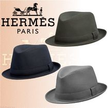HERMES 2018-19AW Chapeau Funky ハット コットンリネン