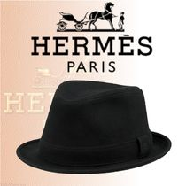 HERMES 2018-19AW Chapeau Funky ハット コットンスエード 黒
