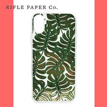 Rifle Paper.Co(ライフルペーパー) スマホケース・テックアクセサリー 【Rifle Paper.Co】Clear Monstera iPhone X Case