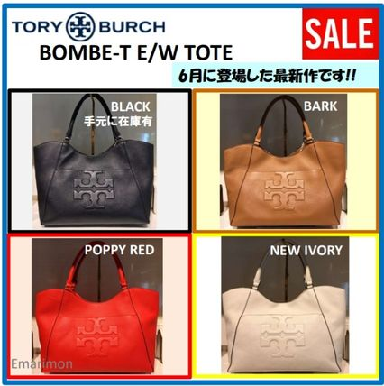 Tory Burch トートバッグ 2018年6月新作★Tory Burch★ BOMBE T E/W TOTE  A4収納可 48306