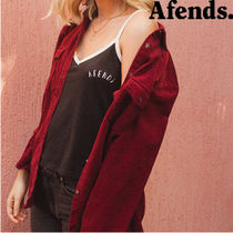 AFENDS(アフェンズ) ブラウス・シャツ 【最短当日発送】大人気☆AFENDS☆Long Sleeve Cord Shirt-berry