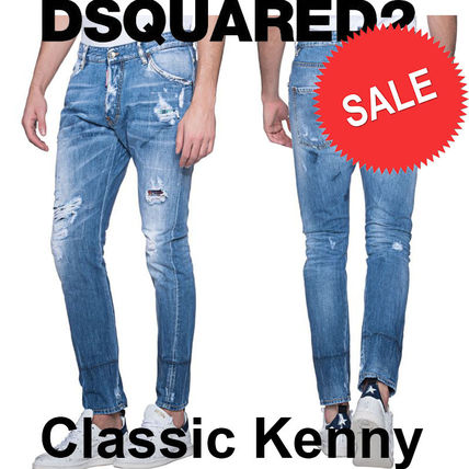 【 D SQUARED2】Classic Kenny ライトブルー ダメージ