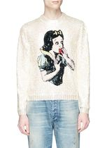 18FW Gucci グッチ Sequin Magnetismo Snow White wool sweater