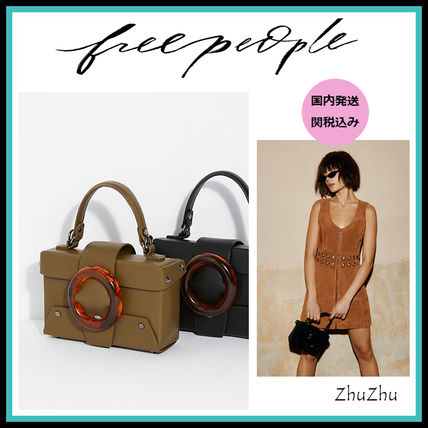 Free People★エコレザー2wayミニボックスバッグ★国内発送