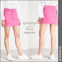 【国内発送・関税込】TOPSHOP★Belted high waisted denim skirt