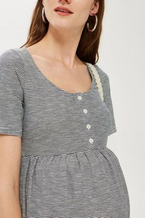 TOPSHOP マタニティワンピース 【国内発送・関税込】TOPSHOP★MATERNITY Striped Smock Dress(4)