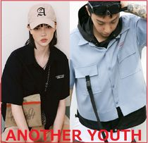 ANOTHERYOUTH(アナザーユース) ブラウス・シャツ ANOTHERYOUTH★正規★crop strap shirts クロップ シャツ/追跡付