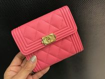 Boy Chanel☆コンパクト財布☆Pink
