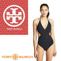 Tory Burch トリーバーチ Solid Wrap One Piece ワンピース水着