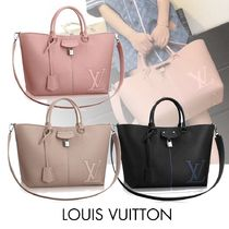 LOUIS VUITTON ルイヴィトン ペルネル トートバッグ ロゴ カーフ
