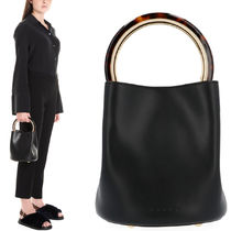 18-19AW M449 PANNIER BUCKET BAG IN CALF LEATHER