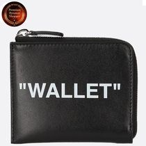 ★OFF-WHITE★Quote leather coin purse(小銭入)関税送料込