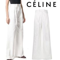 【18AW】大注目!!★CELINE★high-waisted wide leg trousers