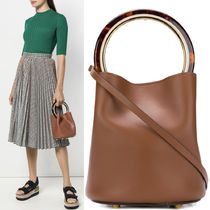 18-19AW M450 PANNIER BUCKET BAG IN CALF LEATHER