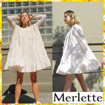 送料関税込★merlette★Soliman Dress☆LightPink☆長袖フレア