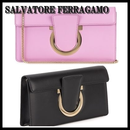 【海外発送】Ferragamo★2018SS Thalia Leather Clutch