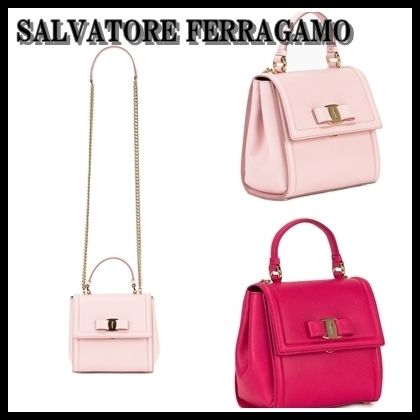【海外発送】Ferragamo★2018SS 	Carrie Leather Bag