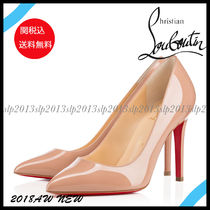 19New■Christian Louboutin■Pigalle Patent 100mm Nude 関税込