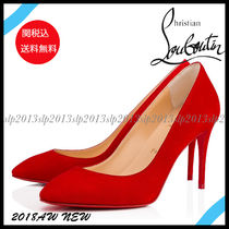 19New■Christian Louboutin■Eloise 100mm スエードRed☆関税込