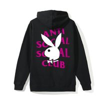 【レア!】 Anti Social Social Club × Playboy ロゴ パーカー
