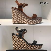 【COACH】WEDGE SANDALS 即発送可能!