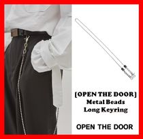 韓国の人気★【OPEN THE DOOR】★ Metal beads long keyring ★