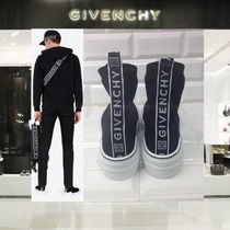 【18AW NEW】 GIVENCHY_men / ロゴ入りKNITTED MID SNEAKERS