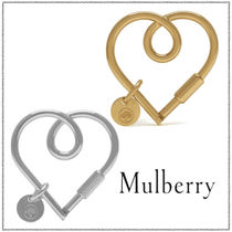 *Mulberry* マルベリー ロゴ付き ループハート キーリング