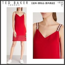【関税込】TED BAKER ワンピース☆Stripe-detail A-line dress