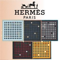 HERMES 2018-19AW Carre 90 Cent Pois スカーフ ウール シルク