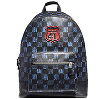 ☆COACH☆West BACKPACK with GRAPHIC CHECKER PRINT
