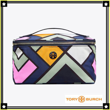 Tory Burch メイクポーチ Tory Burch☆NYLON LARGE TRAIN CASE☆メイクポーチ ☆47874