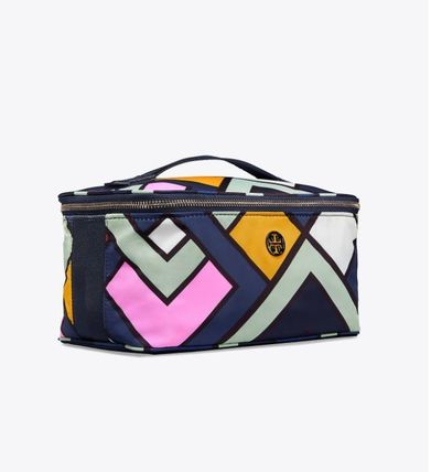Tory Burch メイクポーチ Tory Burch☆NYLON LARGE TRAIN CASE☆メイクポーチ ☆47874(3)