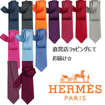HERMES(エルメス) ネクタイ 国内発送 HERMES/エルメス H織り柄 シルクネクタイ Faconnee H