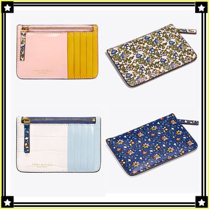 Tory Burch☆COLOR-BLOCK TOP ZIP CARD CASE☆カードケース