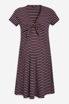 TOPSHOP マタニティワンピース 【国内発送・関税込】TOPSHOP★MATERNITY TieFront Skater Dress(2)