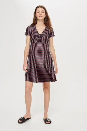 TOPSHOP マタニティワンピース 【国内発送・関税込】TOPSHOP★MATERNITY TieFront Skater Dress(3)