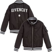 GIVENCHY(ジバンシィ) キッズアウター 大人OK★GIVENCHY★2018AW★ロゴ入ボンバージャケット★黒★12Y