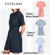 【EVERLANE】●最新●The Cotton Collarless Belted Shirtdress