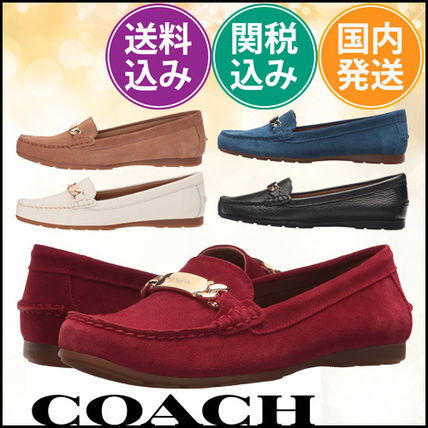 Coach ☆ 多色!Olive Driver レザーローファー〓 関税込み