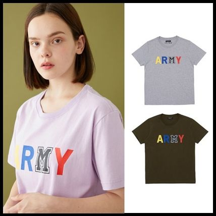 MSKN2ND Tシャツ・カットソー ☆MSKN2ND ☆ Tシャツ ARMY M PRINTED SS T-SHIRT 男女兼用