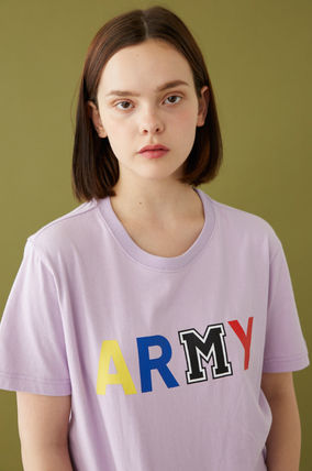 MSKN2ND Tシャツ・カットソー ☆MSKN2ND ☆ Tシャツ ARMY M PRINTED SS T-SHIRT 男女兼用 (3)