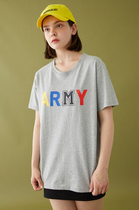 MSKN2ND Tシャツ・カットソー ☆MSKN2ND ☆ Tシャツ ARMY M PRINTED SS T-SHIRT 男女兼用 (8)