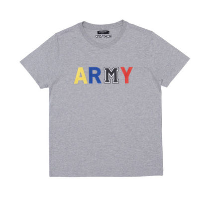 MSKN2ND Tシャツ・カットソー ☆MSKN2ND ☆ Tシャツ ARMY M PRINTED SS T-SHIRT 男女兼用 (12)
