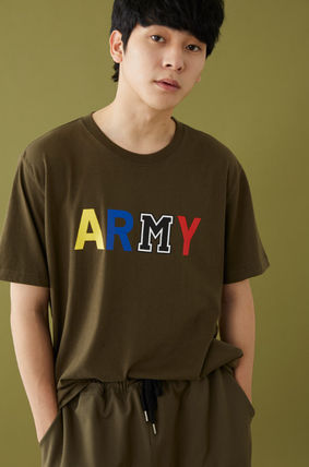 MSKN2ND Tシャツ・カットソー ☆MSKN2ND ☆ Tシャツ ARMY M PRINTED SS T-SHIRT 男女兼用 (14)